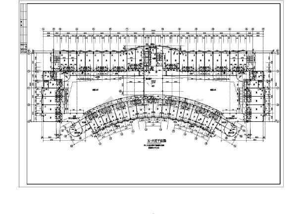 某商业综合楼建筑全套设计CAD施工图-图1