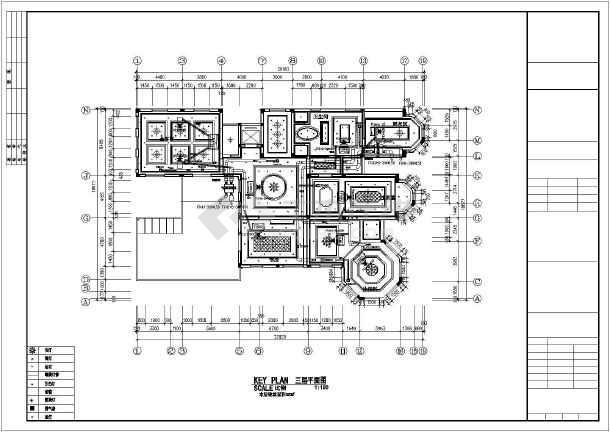 某别墅空调布置平面图-图1