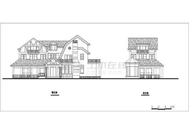 经典户型别墅建筑设计图-图1