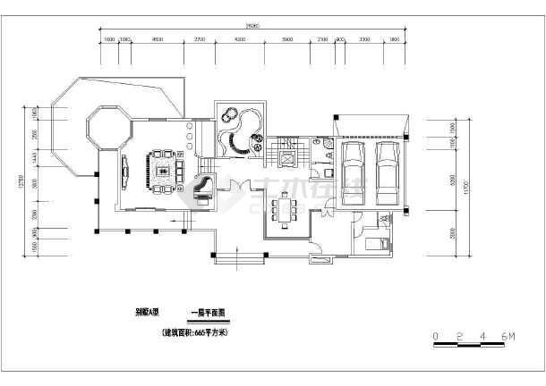 经典户型别墅建筑设计图-图3