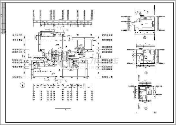 南方某市某小区多层住宅建筑设计图-图3