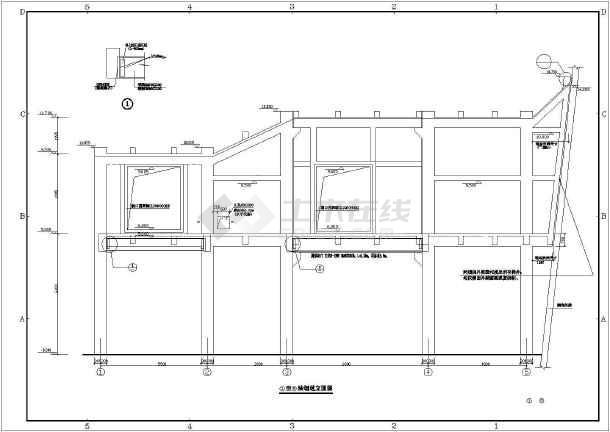 钢筋混凝土烟囱烟道结构施工图-图1