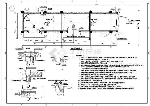 钢筋混凝土烟囱烟道结构施工图-图2
