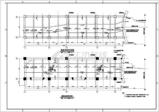 钢筋混凝土烟囱烟道结构施工图-图3