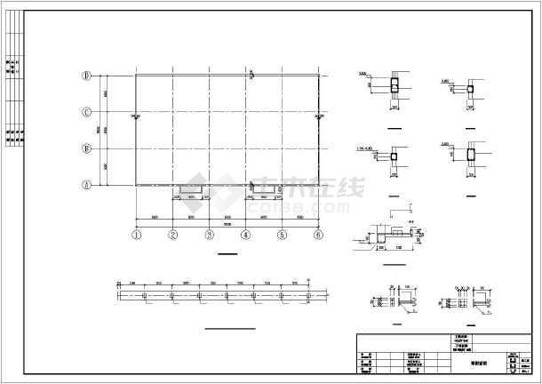 [湖南]单层钢筋混凝土排架结构工业厂房结构施工图-图1