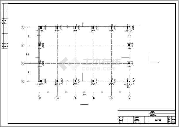 [湖南]单层钢筋混凝土排架结构工业厂房结构施工图-图2