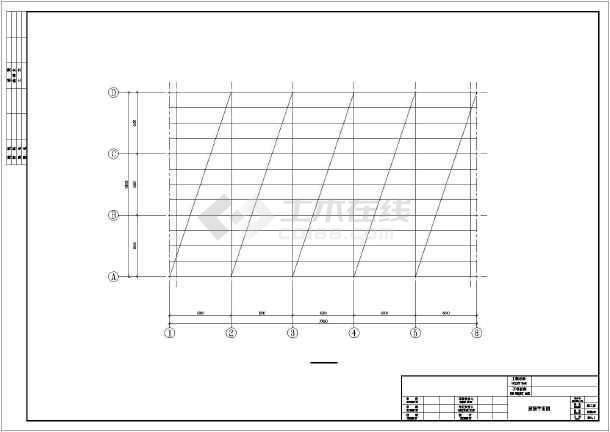 [湖南]单层钢筋混凝土排架结构工业厂房结构施工图-图3
