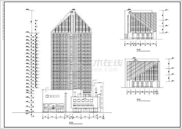 某地某5星级大酒店建筑施工图-图1