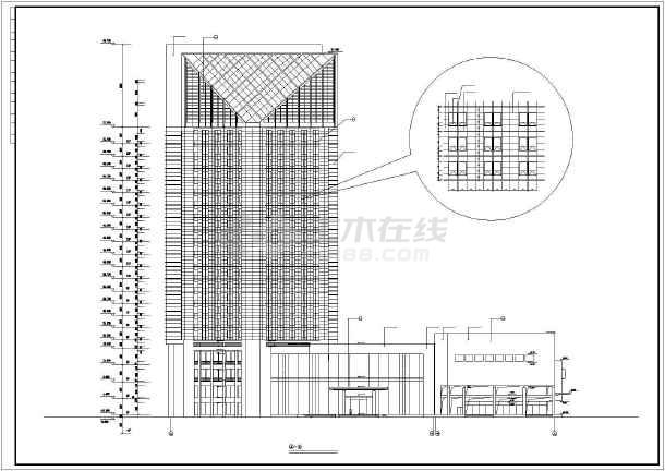某地某5星级大酒店建筑施工图-图2