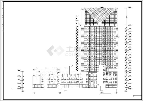 某地某5星级大酒店建筑施工图-图3