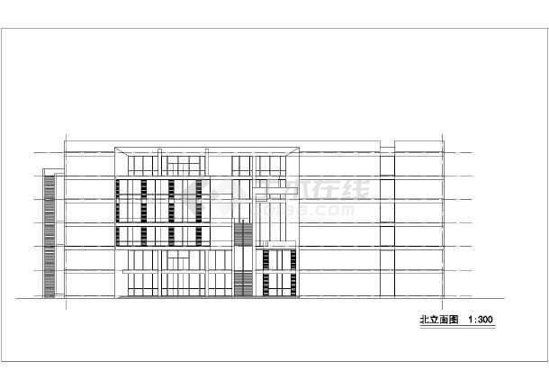 商场平立面建筑设计施工CAD图-图1