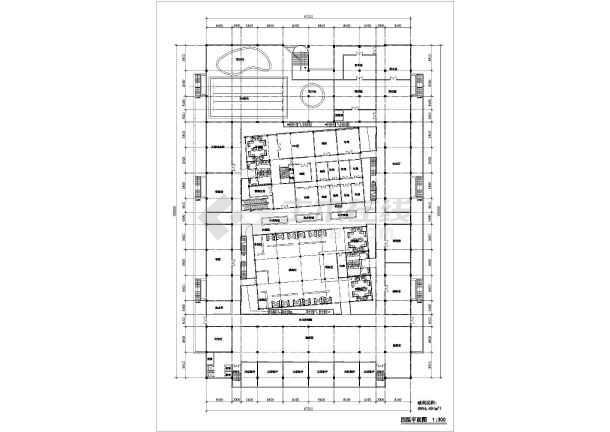 商场平立面建筑设计施工CAD图-图3