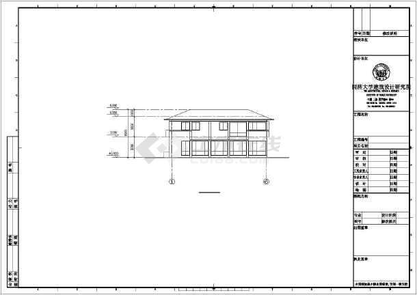 某度假式别墅建筑设计图纸-图1
