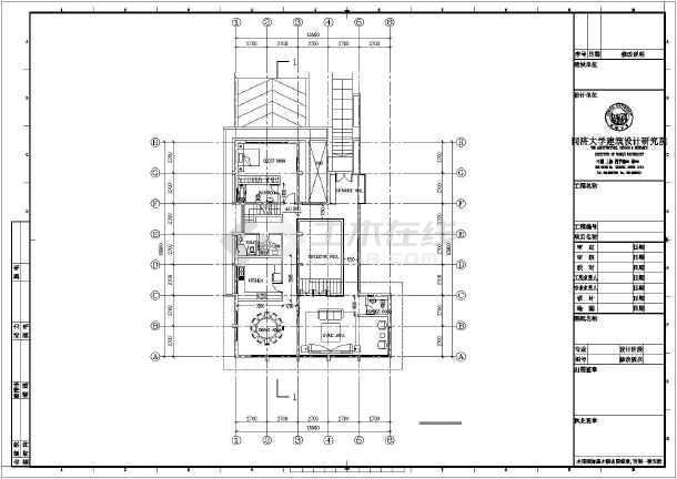 某度假式别墅建筑设计图纸-图3