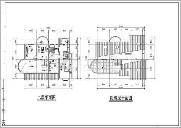 几套别墅户型设计方案图-图1