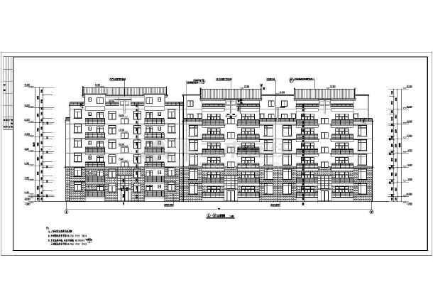 某地多层住宅小区建筑设计cad施工图-图1