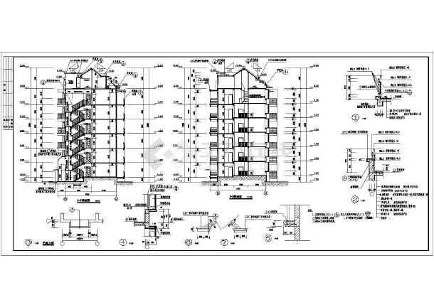 某地多层住宅小区建筑设计cad施工图-图3