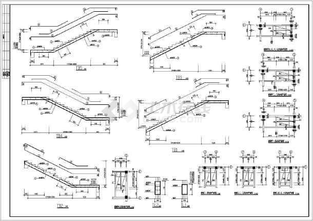 某房地产公司综合楼框架结构图-图一