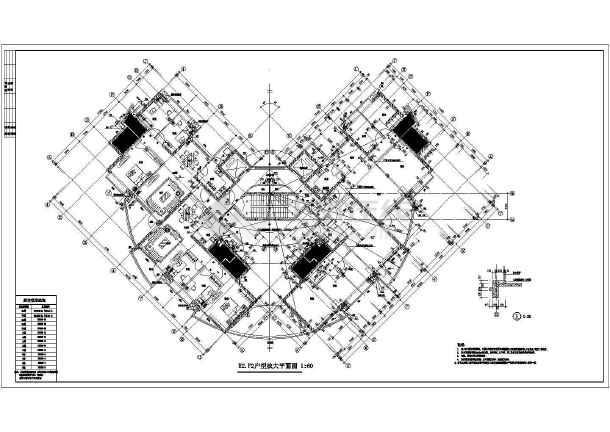 某地阳光带海滨城建筑图-图2