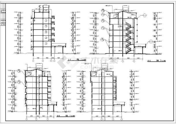 某地高档小区公寓楼建筑施工图(共14张)-图1