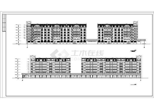 某地高档小区公寓楼建筑施工图(共14张)-图2