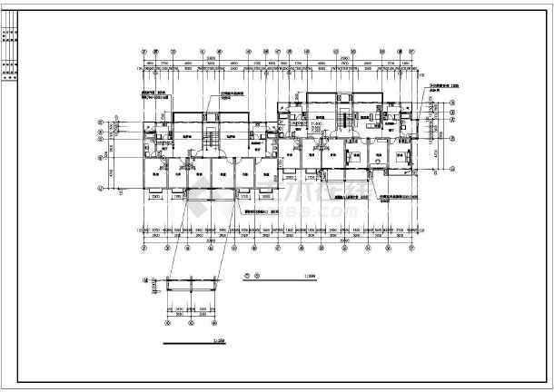 某地高档小区公寓楼建筑施工图(共14张)-图3