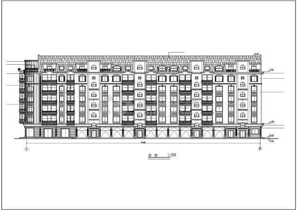 某市某小区多层住宅建筑图(共10张)-图1