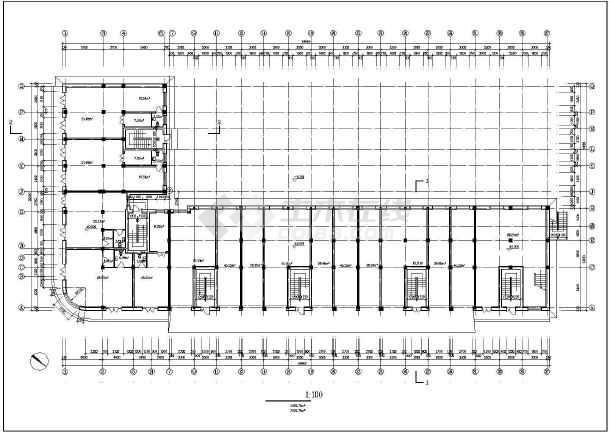 某市某小区多层住宅建筑图(共10张)-图3