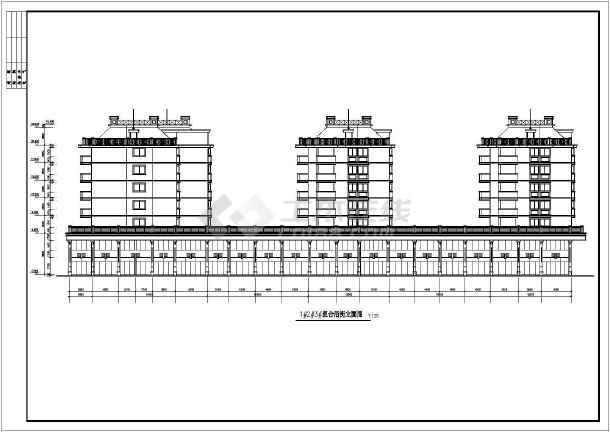 某港边住宅楼建筑施工图(共13张)-图1