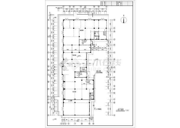 九龙园多层住宅楼建筑设计平面图-图2