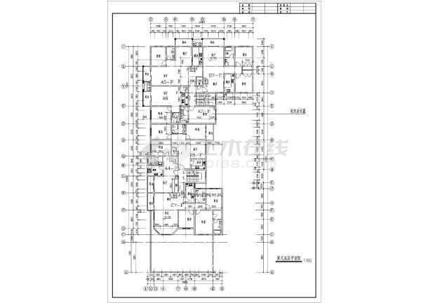 九龙园多层住宅楼建筑设计平面图-图3