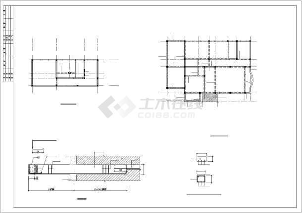 某别墅建筑结构图及PKPM计算模型-图1