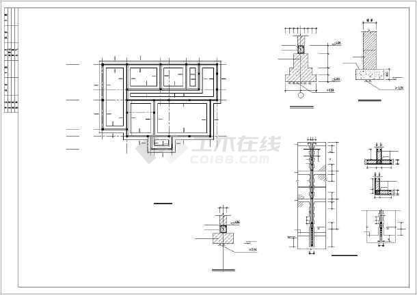 某别墅建筑结构图及PKPM计算模型-图3