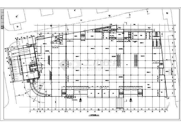 某大型商场建筑CAD设计方案图纸-图2
