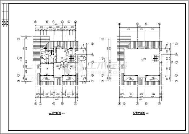春天花园别墅建筑结构图-图1
