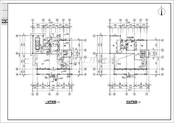 春天花园别墅建筑结构图-图2