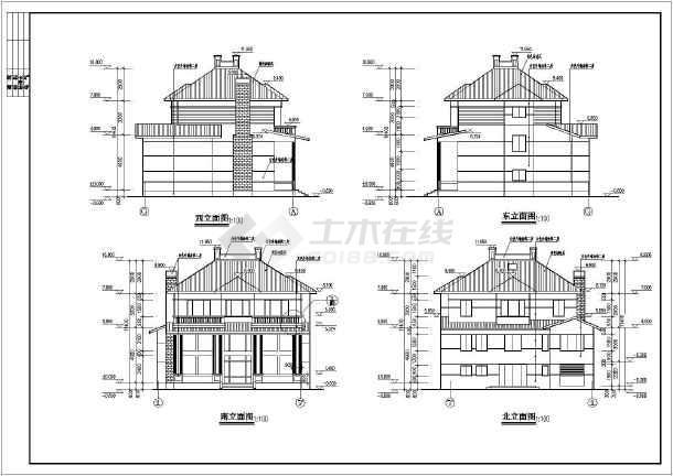 春天花园别墅建筑结构图-图3