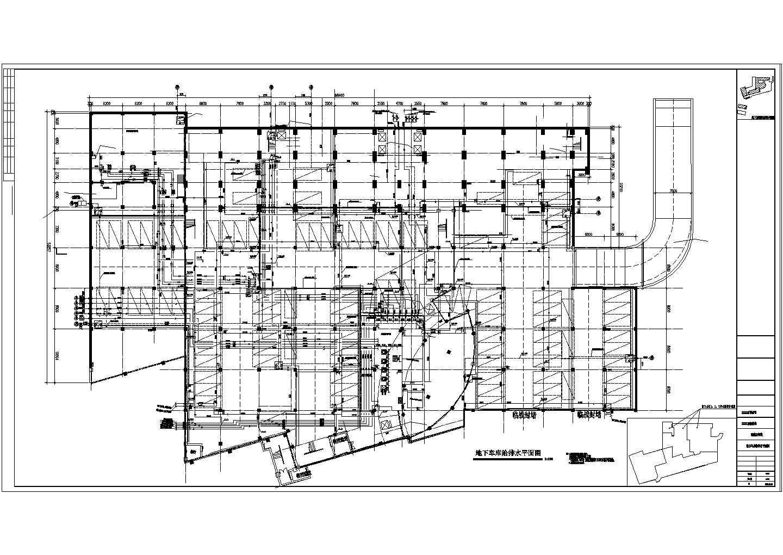 高层酒店办公楼给排水施工图(自动喷淋系统空调冷却循环水系统)图片1