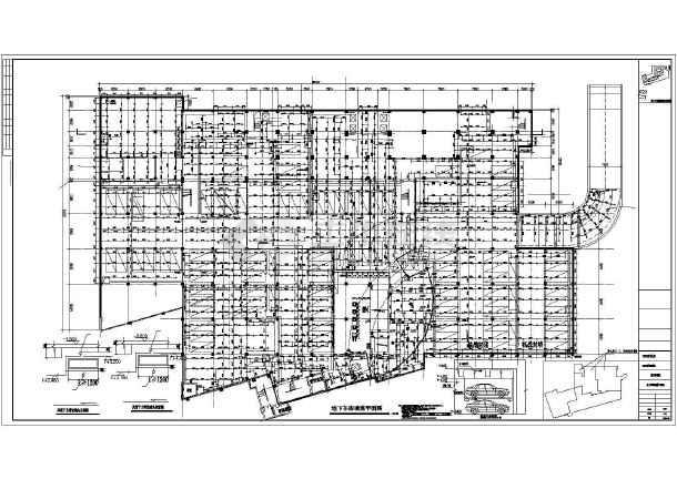 高层酒店办公楼给排水施工图(自动喷淋系统空调冷却循环水系统)-图1