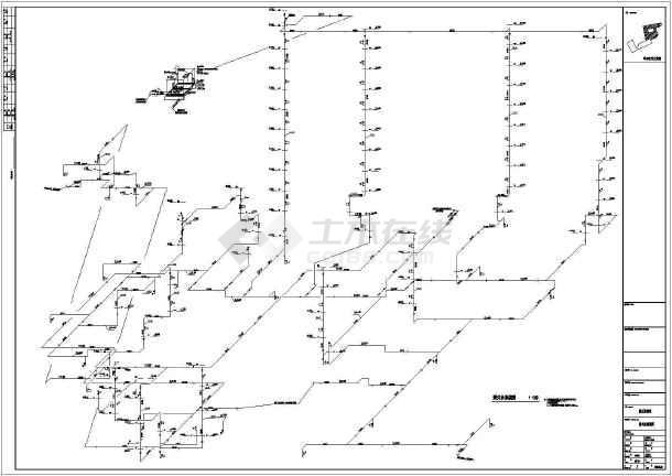 高层酒店办公楼给排水施工图(自动喷淋系统空调冷却循环水系统)-图2