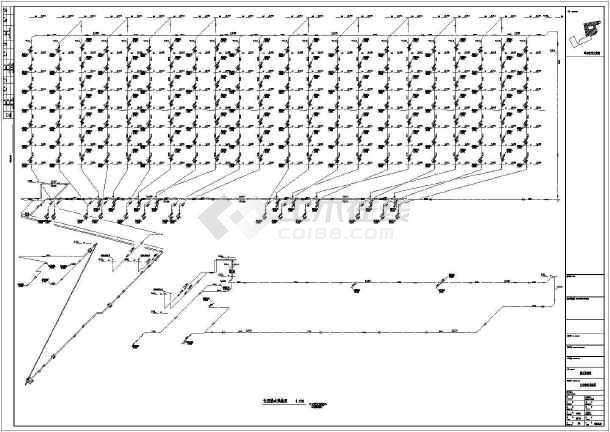 高层酒店办公楼给排水施工图(自动喷淋系统空调冷却循环水系统)-图3