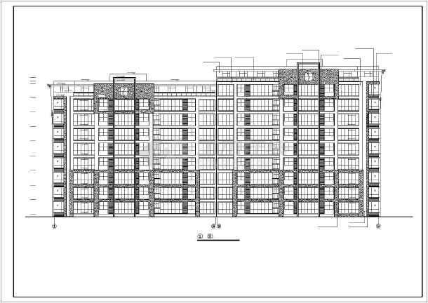某小区小高层住宅楼建筑设计图-图3