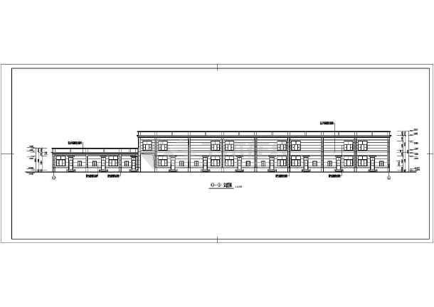 点击查看某地二层商业楼建筑施工图第1张大图