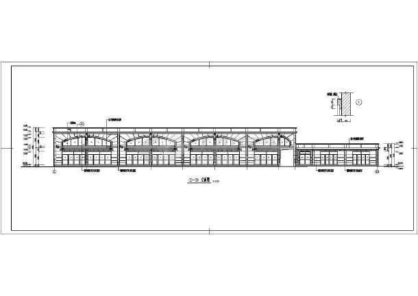 某地二层商业楼建筑施工图-图3