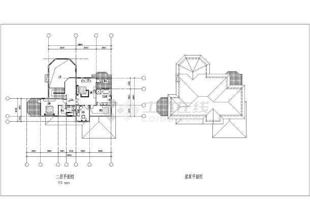 某高档别墅建筑方案图-图1