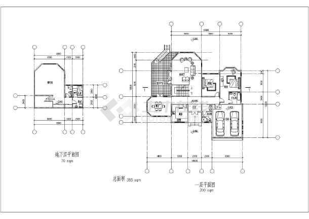 某高档别墅建筑方案图-图2