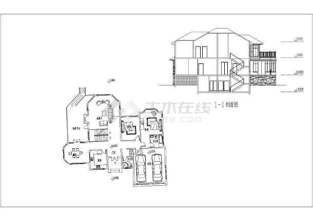 某高档别墅建筑方案图-图3