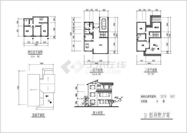 某地小区全套建筑规划设计cad施工图-图1