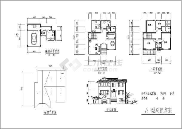 某地小区全套建筑规划设计cad施工图-图2
