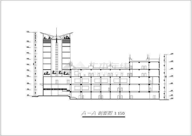 某地大酒店建筑施工图-图3